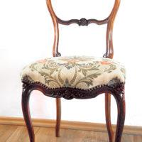 Krzesło pastelowa tapicerska i renowacja antyku - Realizacja: Judyta Papp, 2016