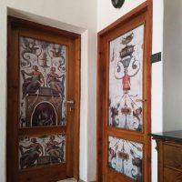 Drzwi, freski Michała Anioła - Projekt i realizacja: Judyta Papp 2020